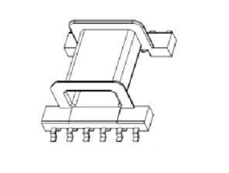 EFD25变压器骨架EFD26电木骨架EFD25高频骨架EFD26电源骨架EFD25贴片骨架 YTC-2502