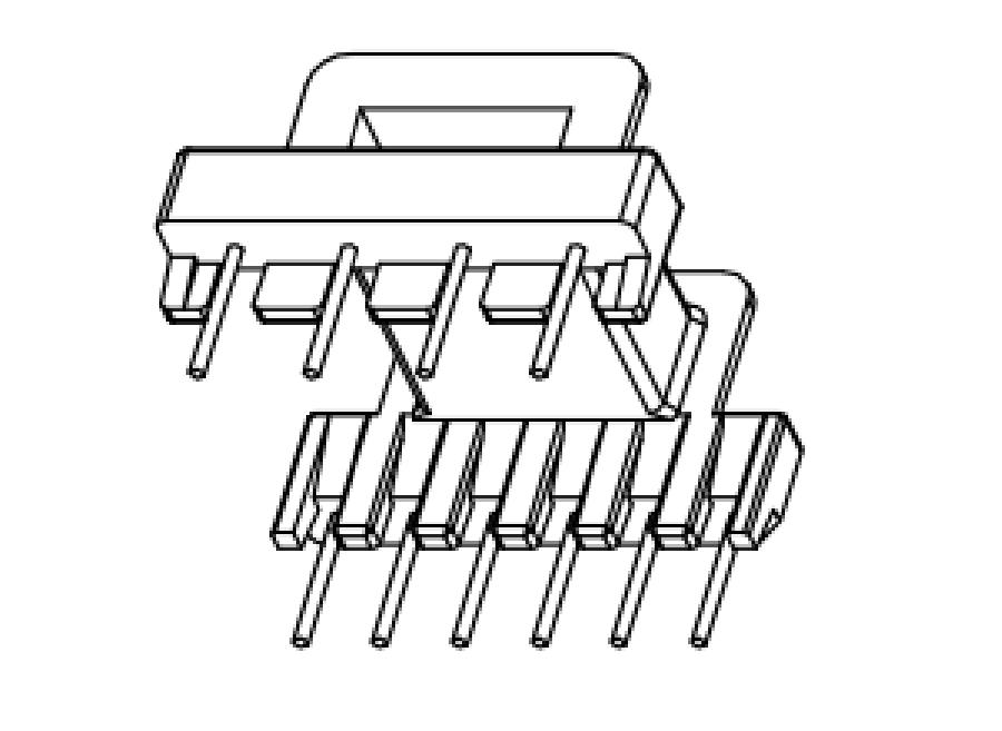EFD20变压器骨架EFD21电木骨架EFD20高频骨架EFD21卧式骨架4-6 YTJ-2003