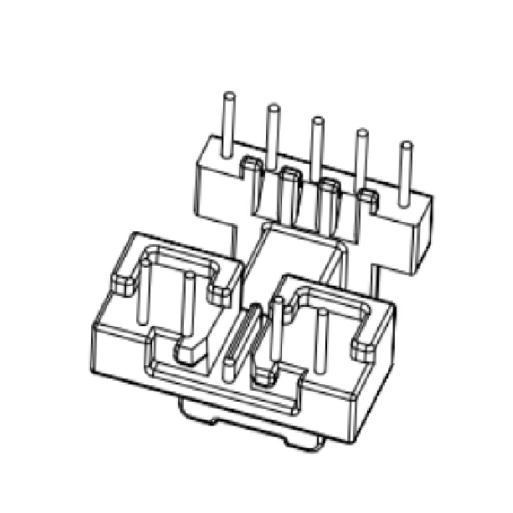EE16 变压器骨架EE17电木骨架EE16高频骨架 卧式5-4