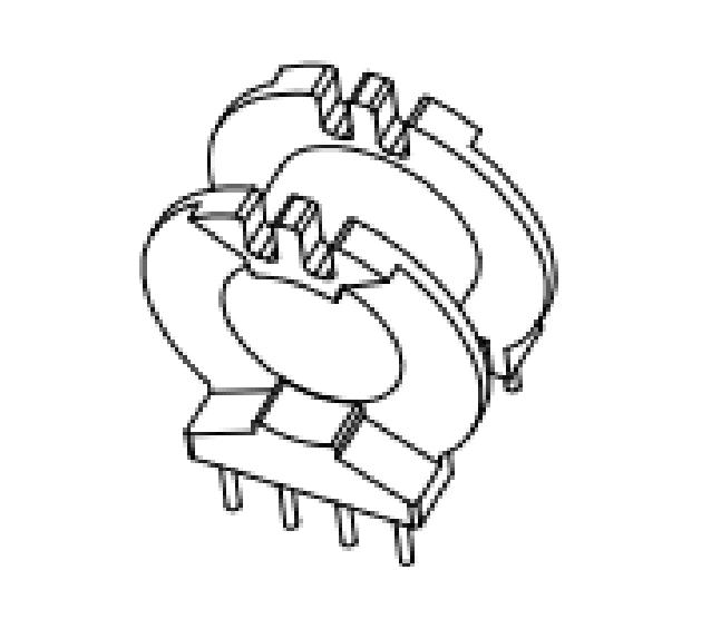 ATQ20變壓器骨架ATQ20臥式骨架ATQ20電木骨架4-4腳骨架