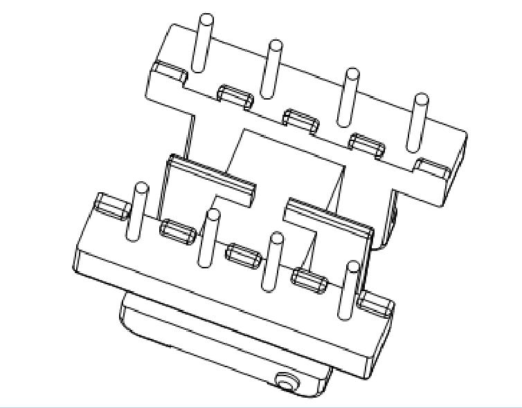 EE19變壓器骨架EE19雙槽骨架EE19高頻骨架4-4腳 YTE-1908