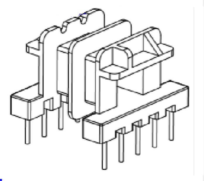 EF12.6變壓器骨架EF12.6雙槽骨架EF12.6臥式骨架 YTG-1201-1