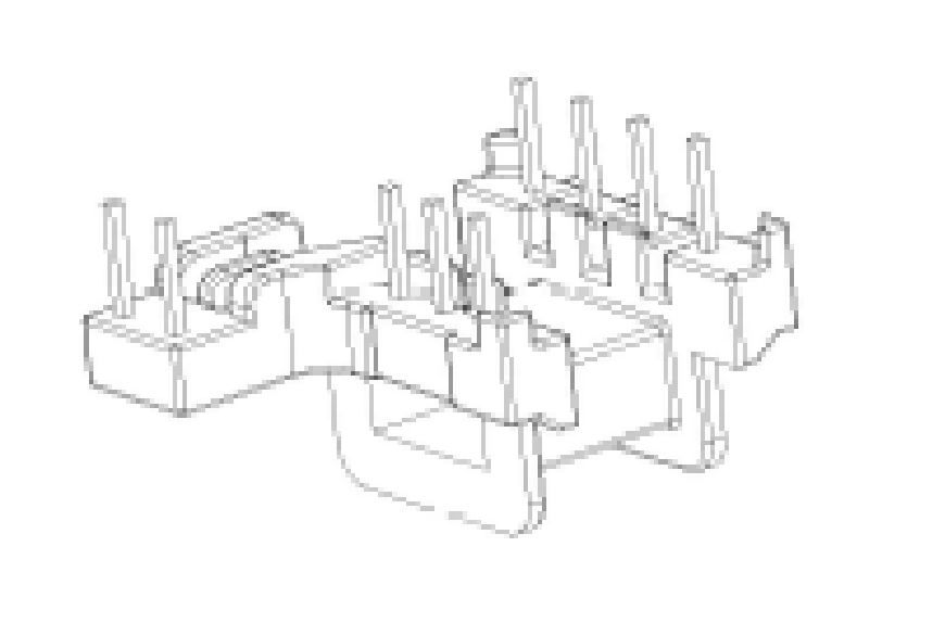 EM15變壓器骨架EM15臥式骨架EM15電木骨架4+3+2腳