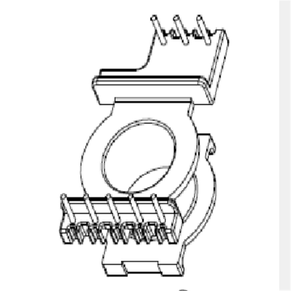 EQ23變壓器骨架EQ23電木骨架EQ23立式骨架5+3針 YTG-2306