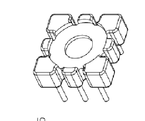 13mm磁环底座 019底座磁环底座 电感底座滤波器底座 YTG-019