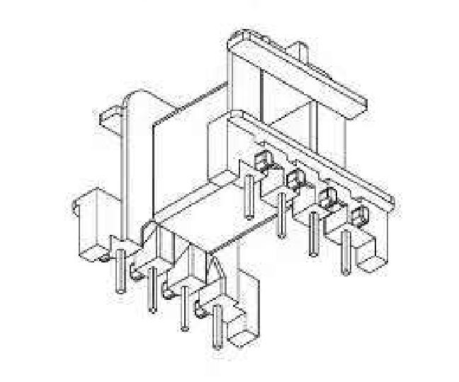EF25變壓器骨架EF25電源骨架EF25加寬骨架EF25高頻骨架EF2511通訊骨架 YTG-2512
