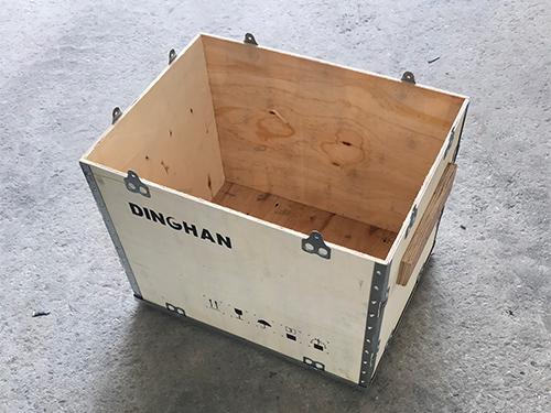 广州卡扣钢带木箱生产厂家 永惠木 耐用 抗压 定制 可折叠 镀锌