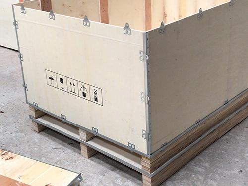 横沥可折叠钢带木箱供应 永惠木
