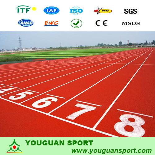 厂家供应环保塑胶跑道材料 提供运动跑道施工 学校塑胶跑道混合型