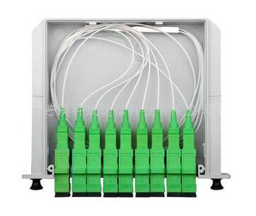 1分8 SC APC分光器插片式广电光纤分路器有线电视一比八