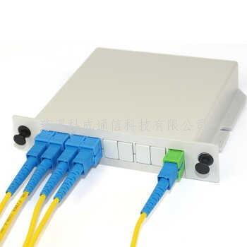 PLC分插片式分路器 SC光分路器 插卡式盒式分支器1分4 1分8 1分16分光器