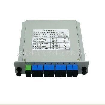 PLC插片式分光器SC光分路器 插卡式盒式分支器1分4 1分16 1分32