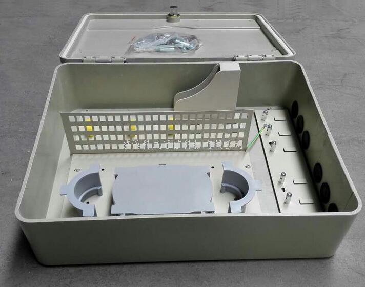 96芯SMC光纤分纤箱 光缆熔配箱直熔光纤盒室外防水壁挂箱ftth工程