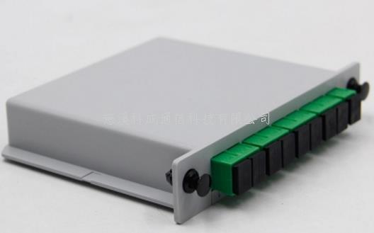 全新1分8分光器插片式SC APC光纤分路器插卡式
