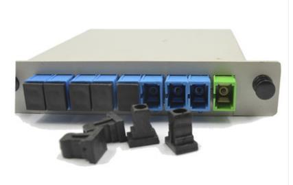 1分8插片式分光器全新电信级SC接口PLC插卡式光纤分路器