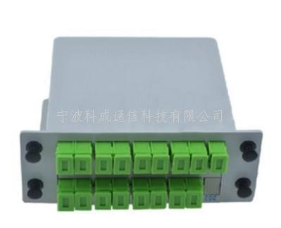 1分16 SC APC插片式光分配器 盒式光分器