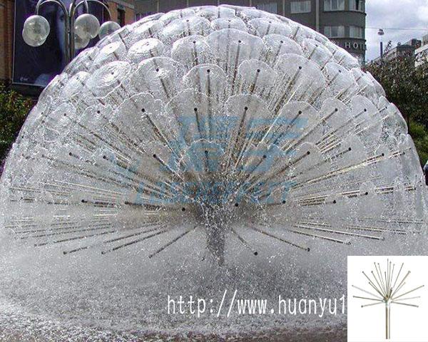 水晶半球(蒲公英)喷头效果