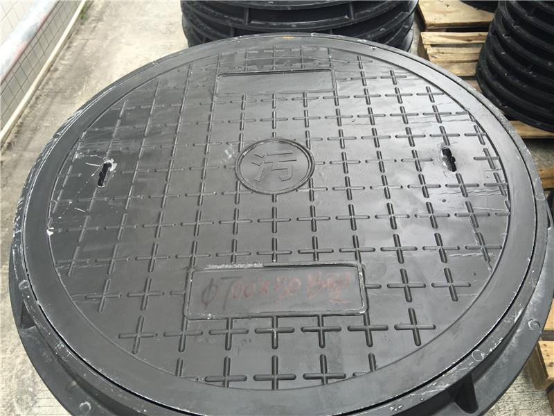 轻型复合圆井盖生产厂家_源鑫建材_雨水_重型_电缆盖_700