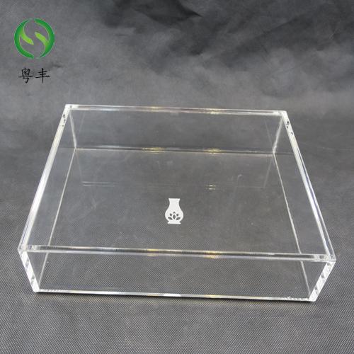 专业定制亚克力包装盒 有机玻璃咖啡盒袋盖展示盒 小样陈列盒
