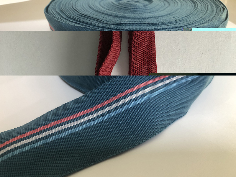 纯色帆布箱包sp线织带厂家直销_钰顺实业_单双人字_平纹涤棉织带