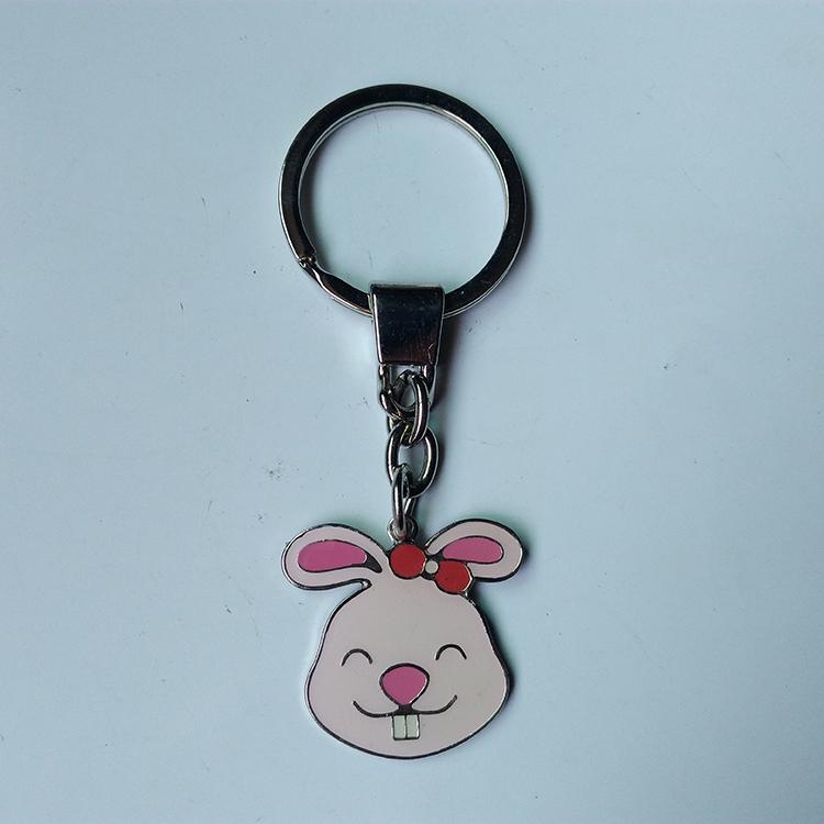 厂家供应动物钥匙扣小挂件 兔子钥匙扣
