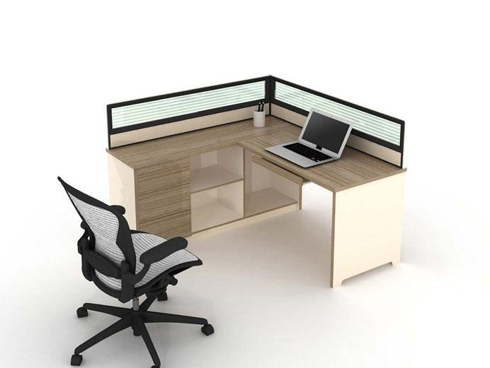 单人位双人位屏风办公桌