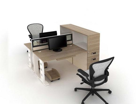 带侧柜职员办公桌电脑桌