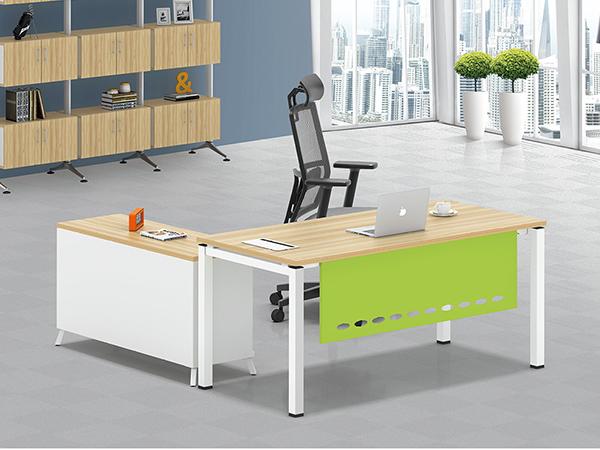 现代钢架大班台经理办公桌