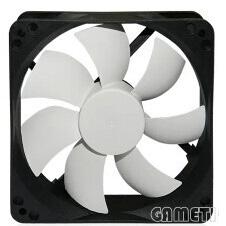 12025黑框白叶风扇