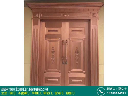 新中式_仿銅門十大廠家_莊仕美日門業