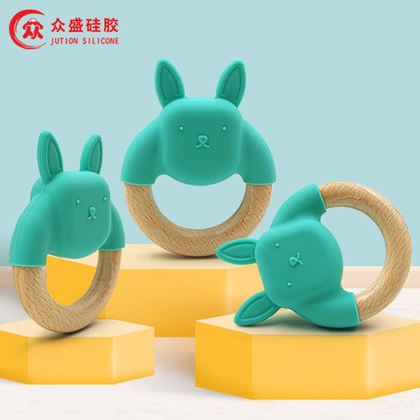 木質硅膠牙膠_硅膠嬰童用品定制