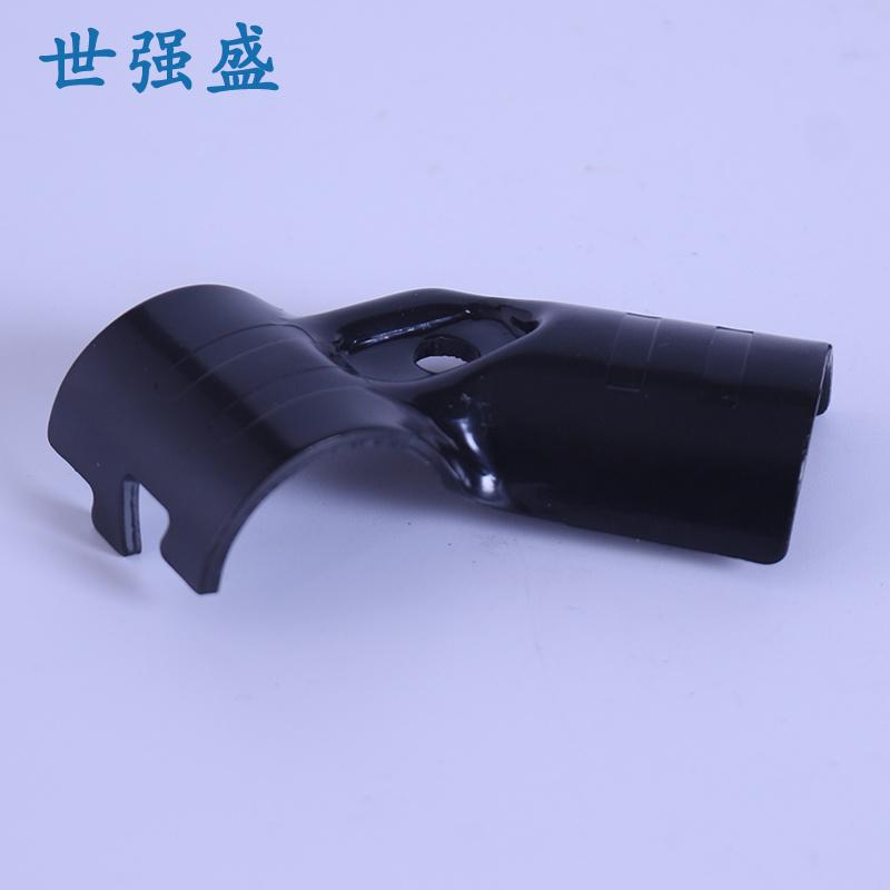 世強盛_HJ-4P_鍍鉻黑色精益管接頭新款