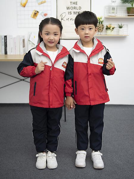 冬季新款兒童沖鋒衣園服套裝