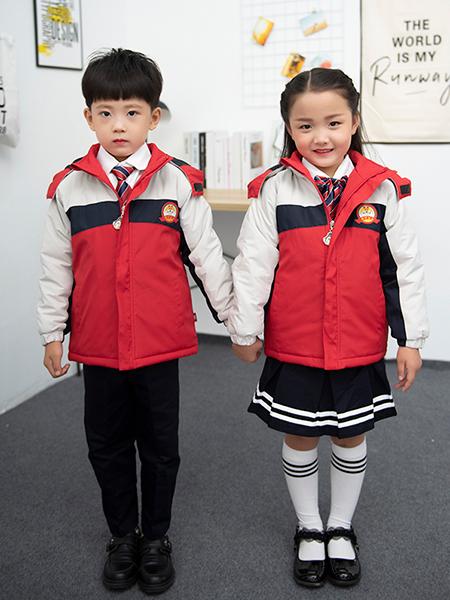 冬季新款棉衣幼兒園園服套裝定制
